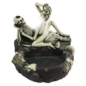 JXQ-N Halloween Cendrier Squelette Tête Crâne Style Résine Simulation Tête Cendrier Personnalité Superposition Gimmick Artisanat Ornements