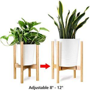 Kohree Support pour Plantes, Support de Pot de Fleur Réglable 20-30cm, Support en Pot pour intérieur et extérieur pour cour, salon, bureau, jardin (Pot non inclus)