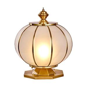 Lampe de mur extérieur Jardin Décoration Lampe L Holiday Lamp Post moderne Outdoor Lampe en verre étanche Cuivre extérieur Eclairage de jardin Réverbère (Color : White)
