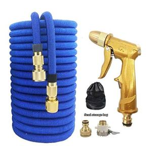 Légère Wearable Jardin d'arrosage Tuyau rétractable Magic Garden Tuyau Flexible Haute Pression Jardin (Color : Blue Hose Set, Lengh : 100ft)