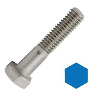 Lot de 10 vis hexagonales avec tige DIN 931 / ISO 4014 en acier inoxydable A2 (V2A)