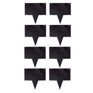 MOCRIS 8 pcs Marqueurs De Fromage Ardoise Étiquettes Ardoise Naturelle Étiquettes pour Gâteau Planches Lavable Mini Tableau Noir Étiquettes Décoration De Table