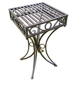 Olive Grove – Table d'appoint de Jardin ou Support de Plante en métal Style Versailles, Finition Bronze Antique
