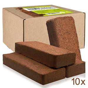Oliver&Jay Boule de coco pressée 10 x 650 g – Pour 90 l de culture en fibre de coco