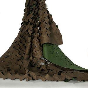 Ombre tissu pour le filet de camouflage retardateur de flamme filet de protection solaire en plein air CS rouge décoration Scénica – couleur vert marron (Size : 5 x 5 m)