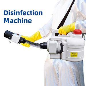 Pulvérisateur électrique, 5L Portable Fogger Sprayer Ultra Capacity Désinfection Fogger pour la Fumigation dans Les hôtels, centres commerciaux, Restaurants et Maisons, Blanc