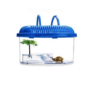 QNMM Petit Aquarium Box boîte d'élevage de Tortues avec Plateau de séchage pour Tortues,M