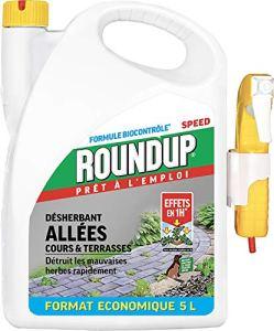 Roundup Désherbant Cours Allées Prêt à l'emploi, 5L