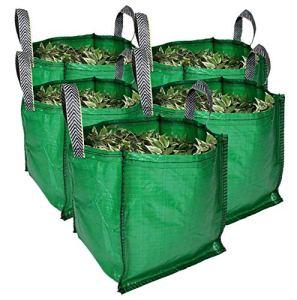 Sacs à déchets de jardin (90 litres – Lot de 3 – Qualité supérieure – Tissu industriel et poignées – Sacs à déchets écologiques… 5 Bags Vert