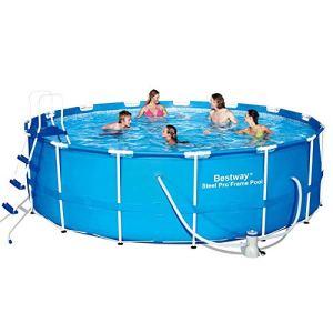 Sunton Steel Pro Ensemble de piscine avec cadre de jardin pour enfants et adultes 15 x 48 cm