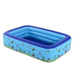 SXZHSM Trois Piscine Gonflable, Piscine intérieure et extérieure de la Famille, Ocean Ball Pool Pataugeoire for Les Dessins animés d'impression (Color : C:262x175x60CM)