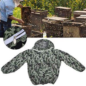 Tenue de gardien d'abeille, combinaison de protection apicole camouflage, facile à enlever pour hommes femmes