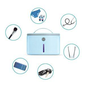 UVC Germicide Box,Anti-Bactérienne Taux 99% Sac Ultraviolet Stérilisation,Underwear Masque Téléphone Mobile Biberon