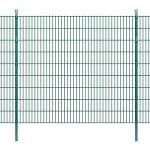 vidaXL vidaXL Panneaux et poteaux de clôture 2D pour jardin 2008×1830 mm 50 m