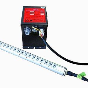 220V ~ 230V/50Hz ou 110V ~ 120V/60Hz en alliage d'aluminium 1000mm * 1060mm 7.0KV travail Place antistatique et anti poussière Transformateur avec deux barres de ion 110V