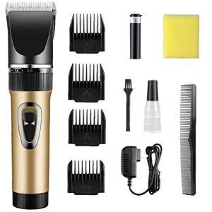 AAGOOD-électrique Tondeuse multifonction sans fil Tondeuse à cheveux Tondeuse à barbe Hommes Toilettage Kit d'or 1Régler