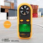 Anémomètre numérique LCD compteur de vitesse du vent portable testeur de vitesse de l'air mesure la vitesse du vent jauge de débit du vent pour testeur vitesse du flux d'air refroidissement