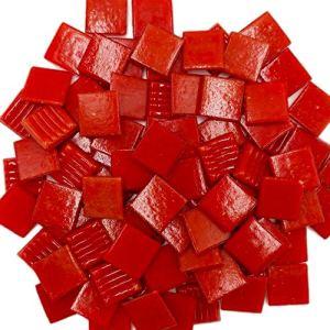 Armena Lot de 2 Pierres de mosaïque Rouge 260 g 2 x 2 cm Env. 86 pièces (2 x 130 g de Pet)