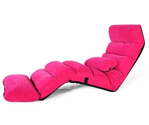 ASIG Plancher Pliable Tissu Chaise Longue rembourrée Meubles de Salon canapé Paresseux lit de Repos transat, Couleur Rose