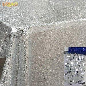 BLUELSS La mode européenne Table Cloth Flower BronzingTable Oilproof cirée imperméable Hôtel Chiffons anti mariage nappes chaudes,Silver