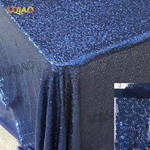 BLUELSS Table rectangulaire en tissu style pastoral des plantes et des oiseaux en plastique imperméable imprimé Décoration d'Nappe Café 137×100-137×275,bleu marine