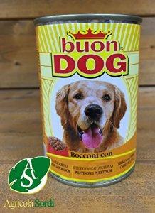 Bon Dog Chien bocconcini poulet et dinde carton 24pièces humide canette 400g –