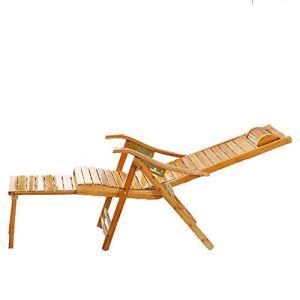 Chaise de jardin portable inclinable, réglage incurvé 160 cm, coussin max 150 kg pour usage domestique, bureau, balcon, plage, A, 170 x 50 x 37 cm WHJD 170X50X37cm A