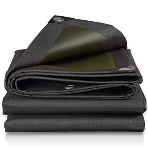 Giow Toile d'ombrage Protection Contre Le Soleil Écran Solaire Tissu Oxford Tissu Abri d'autobloquant à l'épreuve de la Pluie, 21 Tailles (Couleur: Noir, Taille: 8X10m)