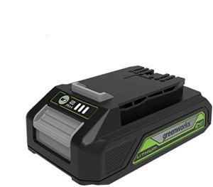 Greenworks Tools Batterie G24B2 2ème génération (batterie puissante rechargeable Li-Ion 24 V 2,0 Ah adaptée à tous les appareils et batteries de la série 24 V Greenworks Tools)