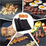 Grille Barbecue 2pcs BBQ Grill Mat Barbecue de cuisson antiadhésif Teflon Réutilisable Plaque de cuisson for Party 40x33cm (Color : 1PC Barbecue mat)