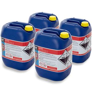 Höfer Chemie 4 x 25 kg (100 kg) Chlore Liquide 48° pour Piscine avec Une teneur en Chlore Actif de 13 à 15% pour l'entretien des piscines et la désinfection de l'eau – Made in Germany