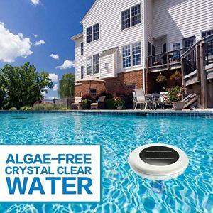 Ioniseur solaire pour piscine – Purificateur d'air – Ioniseur de piscine – Cuivre argenté – Ions – Pour le traitement des piscines, des spas et de l'eau potable