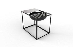 Konstantin Slawinski Brasero avec fonction Barbecue Slide 700 – Noir – 84 x 57 x 70 cm