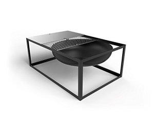 Konstantin Slawinski Brasero avec fonction Barbecue Slide – Noir – 84 x 57 x 33 cm