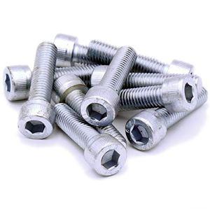 M10(10mm X 45mm) Douille hexagonale Tête capuchon Vis Boulons en acier (lot de 10)