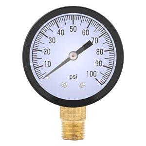 Manomètre 0-100PSI 1/4 BSPT Manomètre d'Eau d'Huile d'Air Mètre de Pression