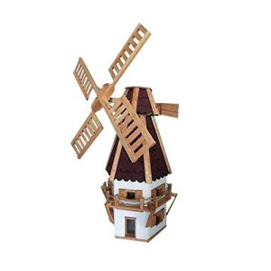MOULIN DECORATIF A VENT GRAND MODELE BOIS LAQUE