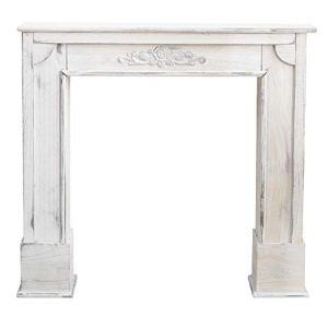 Rebecca Mobili Encadrement Decorative Shabby, Cadre Cheminee Decorative en Bois, Blanc, Design Vintage, Salon – Dimensions: 100 x 105 x 21 cm (HxLxL) – Art. RE4863