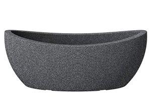 Scheurich 55371 253/58 Wave Globe Jardinière Plastique Granit Noir 58 x 24 x 23 cm