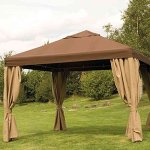 Siena Garden 573320 Toronto Toit pour Pavillon de Jardin Polyester/Revêtement PU Moka 3,5 x 3,5 m