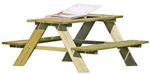 Table de pique-nique pour enfants en bois – Table et bancs intégrés de Gartenpirat®
