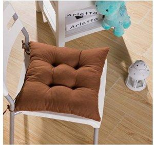 Tia-Ve – Coussin de chaise, 40x40x8cm – Violet foncé Café marron