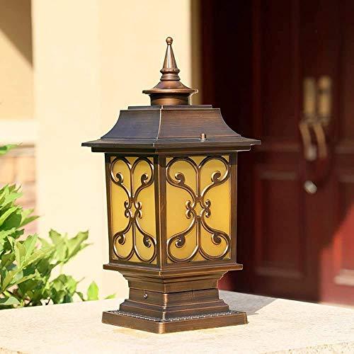 Victoria Antique Verre Colonne Lumière Lanterne Post Pillar Lampe Extérieure Étanche Lampe De Table E27 Raccord Extérieur Mur Imperméable Cour Cour Pelouse Jardin Lampe Rue Lumière