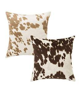 Wadiga Set de 2 Coussins Peau de Vache