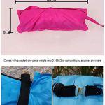 widely Fauteuil Gonflable Accessoire Plage Canapé ExtéRieur Auto-Gonflant ImperméAble Et Antichute, Pique-Nique dans Le Parc De Camping-Bleu