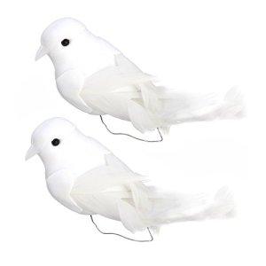 WINOMO 2 PCS Artificielle Plume Oiseaux Mignon Pellets Mousse Bundled avec Griffe Photo Props Décoration de La Maison