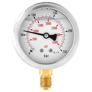 0-250Bar 0-3750PSI G1/4 63mm Jauge Hydraulique Mesure de Pression d'Eau Cadran de Manomètre
