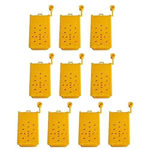 10 PCs Bee Queen Shipping cages apiculteur apiculteur outils d'équipement pour les abeilles Queen isolation