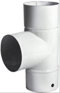 ALA 9774010 Écart T Blanche Émaillée-Diamètre 10 cm