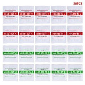 BELTI 20 Pcs PH Poudre de Solution Tampon PH pour Test Mètre Mesure Calibration 4.01 6.86